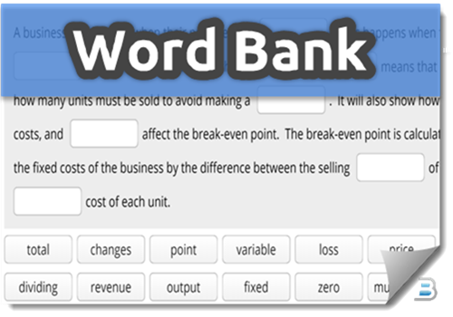 Word Bank Activity