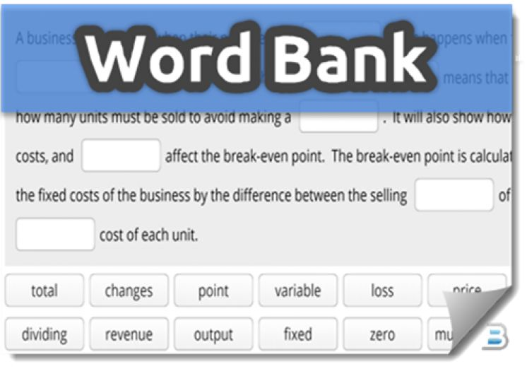 Word Bank Activities