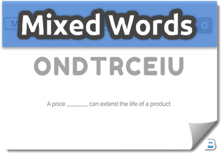 Mixed Words Activities